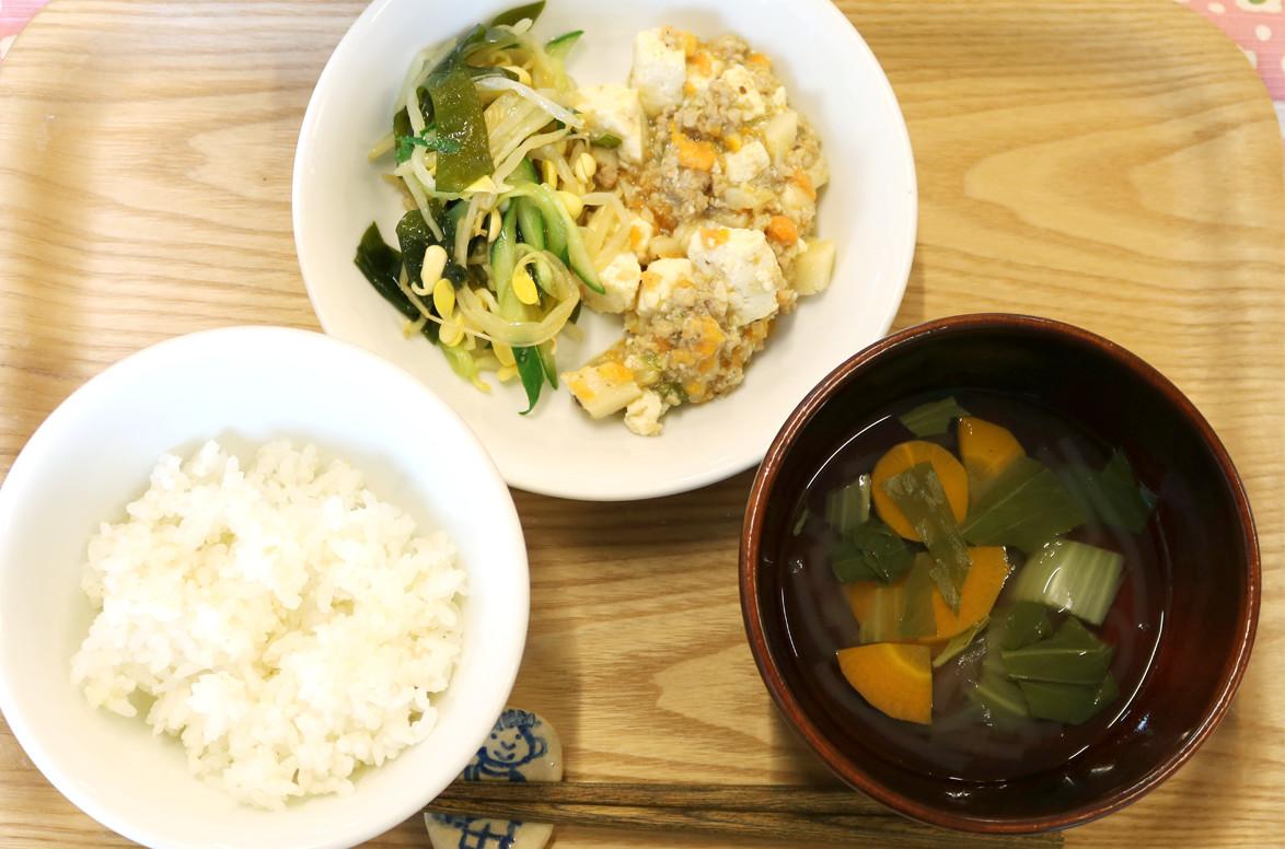 保育園レシピのマーボー豆腐